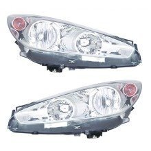Peugeot Rcz 2/2013-2014 Headlights Headlamps Chrome Inner 1 Pair O/s & N/s