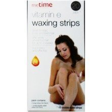 20 pack Vitamin E Waxing Strips Body Bikini Face Lip Hair Removal