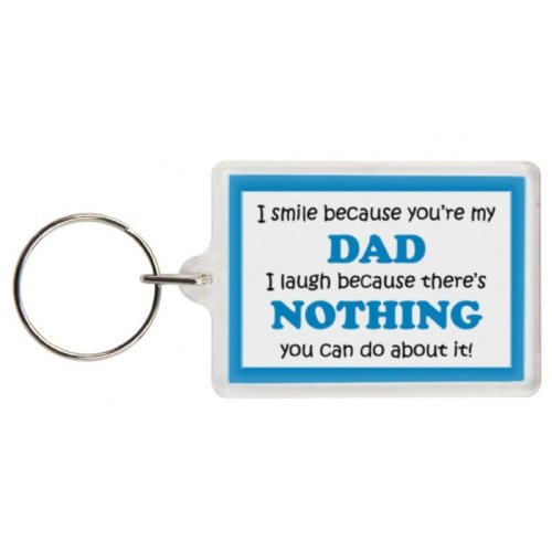 Funny Dad Gift Keyring - Excellent stocking filler, secret santa gift, joke keyring, keychain, Dad keyring Dad present gift for Dad