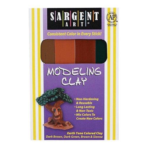 Sargent Art Inc. SAR224009 Sargent Art Modeling Clay Earth Tone Colors