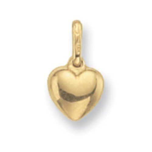 Childrens 9ct Gold Heart Pendant On A Prince of Wales Necklace