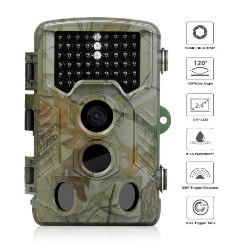 iado Trail Camera, Wildlife Camera Night Vision Hunting Cameras 1080P HD/120°Wide Angle Outdoor Infrared, 20M Detection Distance/16MP/0.2s Trigger...