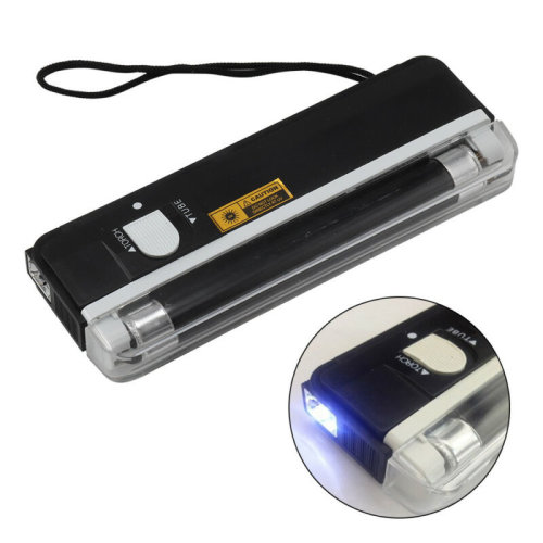 Portable UV Light Bank Note Checker with Torch ultraviolet tube light battery