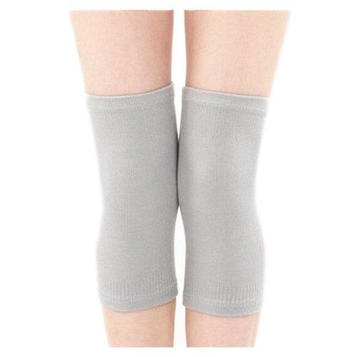 Slim Knee Brace Sleeve for Sports/Yoga/Dance/Arthritis/Joint Pain Gray (M)