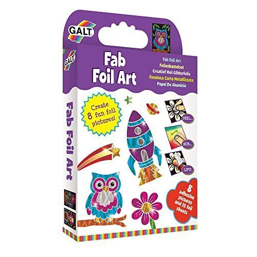 Fab Foil Art Kit With 8 Adhesive Pictures And 25 Foil Sheets - Galt Toys -  galt art fab foil toys