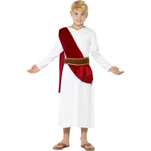 Smiffy's Children's Roman Boy Costume, Robe, Belt And Headpiece, Ages 7-9, - -  roman costume fancy dress greek boy boys toga childrens smiffys