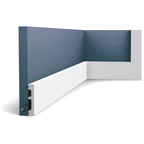 Orac Decor SX157F AXXENT SQUARE Skirting flexible baseboard moulding 2 m