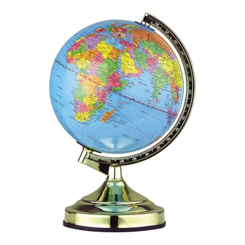 13-inch Globe Touch Lamp with Bulb Rotating Globe Bedroom Childrens Room