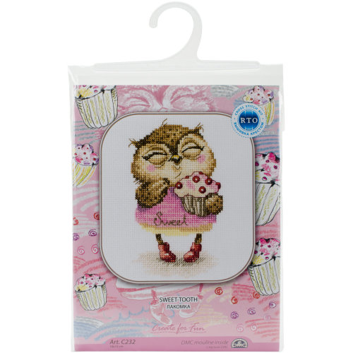 """Sweet-Tooth Counted Cross Stitch Kit-4""""X6"""" 14 Count"""