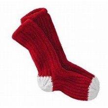 Earth Therapeutics Shea Butter Dream Silk Cozy Socks RedWhite