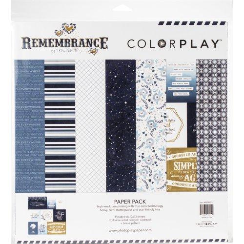 "Colorplay Collection Pack 12""X12""-Remembrance, 6 Designs/2 Each + Bonus"