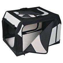 Trixie Vario Transport Box, 99 x 67 x 61cm - Dog Bo Soft Crate Cages Three Side -  vario dog transport box soft crate cages three side opening sturdy