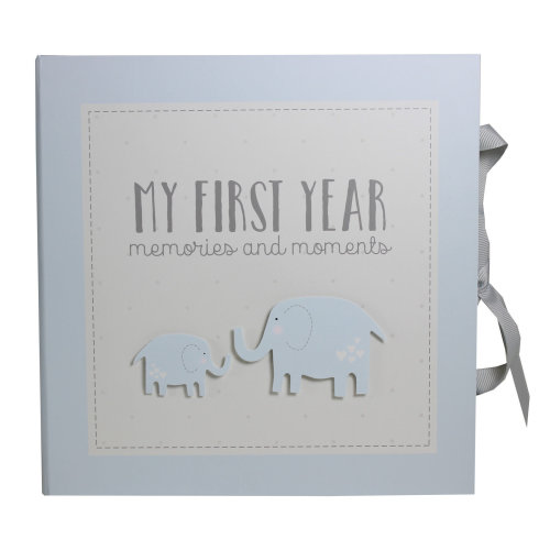 My First Year Record Book Petit Cheri Collection Gift - Blue Baby Girl