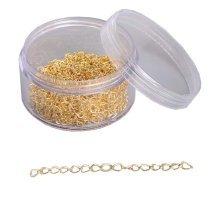 200 Pcs Earring Chains Accessories DIY Earrings Handmade Material Golden