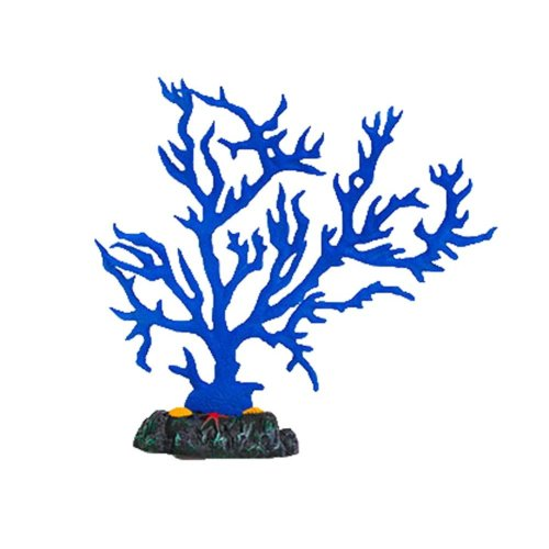 Emulational Plants Aquarium Decor Fish Tank Coral Decoration,Blue