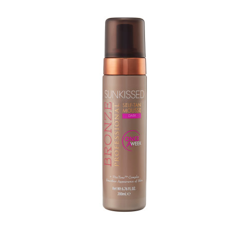 Sunkissed Bronze Professional Once-a-Week Self-Tan Mousse 200ml - Dark
