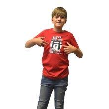 Digital Dudz Kids Unisex Moving Ninja Skills Digital T-Shirt XL Red DDKTNSX-XL