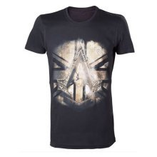 Assassins Creed Syndicate Bronze Crest T-Shirt XL Black Model. TS238509ACS-XL