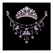 Princess Dress up Accessories Jewelry Set Birthday Party Favor [Purple]