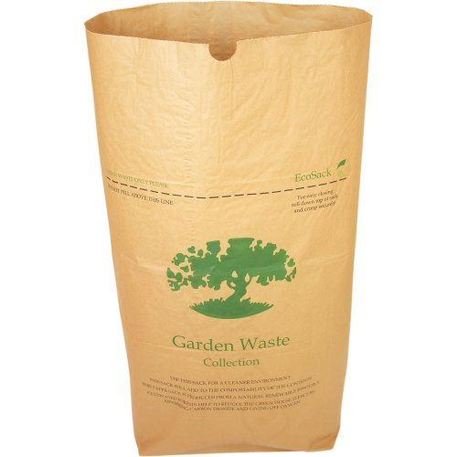 10 x Alina 75L Compostable Paper Garden Sack / Bin Liner / Biodegradable Brown 75 Litre Paper Compost Sack with Alina Composting Guide (10 sacks)