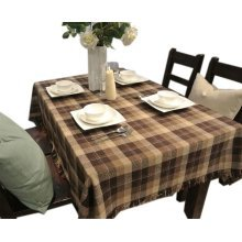 [Brown Plaid] Country Style Tablecloths/Table Cloths/Table Cover (130*180CM)