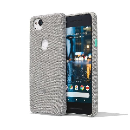 Google Pixel 2 Phone Case Cover Tailored Fabric Active Edge Compatible - Grey