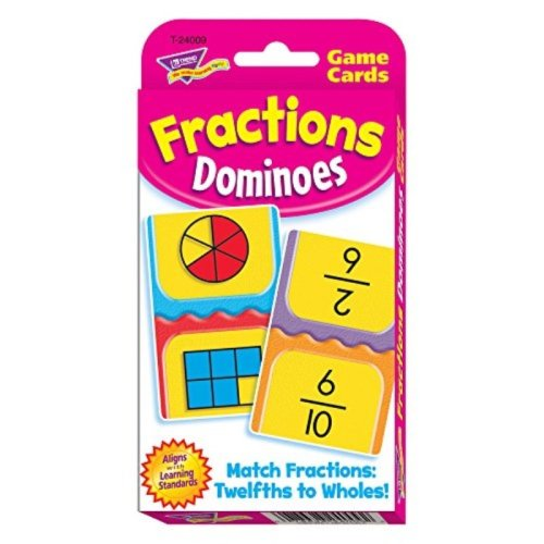 Fractions Dominoes Challenge Cards