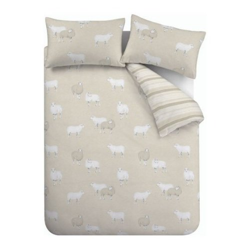 Sheep Natural Bedding Set – Single by Catherine Lansfield