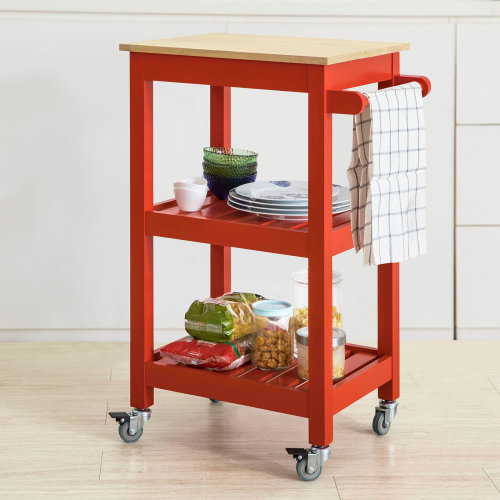 SoBuy® FKW67-R, Kitchen Storage Trolley Serving Trolley Kitchen Shelf