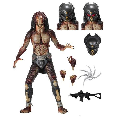 "NECA Predator (2018) 7"" Scale Action Figure Ultimate Fugitive (Lab Escape)"