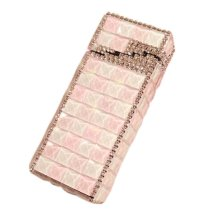 Stylish Luxury Rhinestone Small Cigarette Holder Case Great Gift for Girlfriend, H