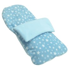 Snuggle Summer Footmuff Compatible With Firstwheels City Twin - Light Blue Star