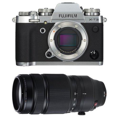 FUJI X-T3 Silver + XF 100-400MM F4.5-5.6R LM OIS WR Black