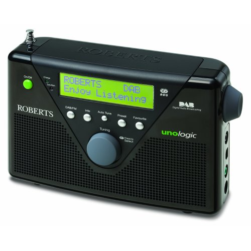 Roberts Unologic DAB/FM RDS Digital Radio with Built-in Battery Charger - Black
