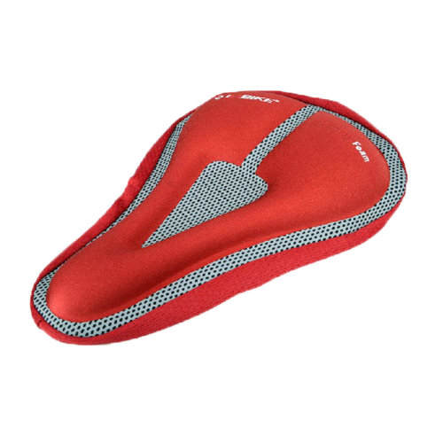 Bike Bicycle Comfortable Soft Saddle Seat Gel Padded Cushion Cover (Red)