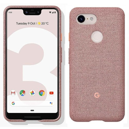 Official Google Pixel 3 XL Fabric Case Cover - Pink Moon (GA00500)
