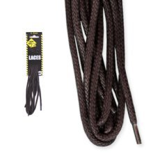 150cm Brown Worksite Heavy Duty Wax Laces - Boot Shoe Workwear Accessory - Worksite Heavy Duty Laces 150cm Brown Wax Boot Shoe Laces Workwear
