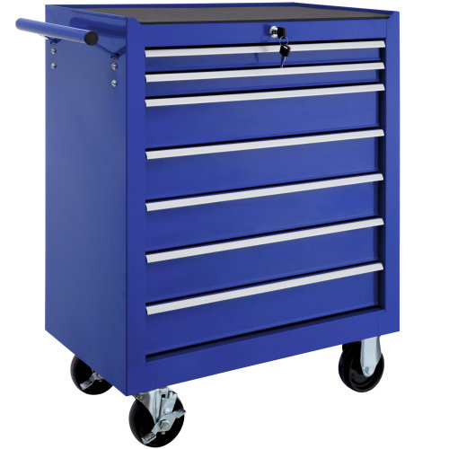 Tool chest with 7 drawers blue