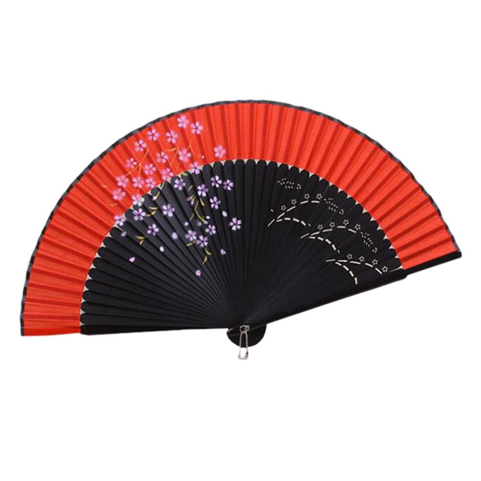 elegant hand fan portable folding fan carved handheld fan chinese