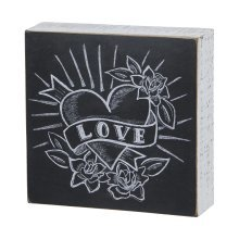 Primitives Box Sign - Love (with heart design)