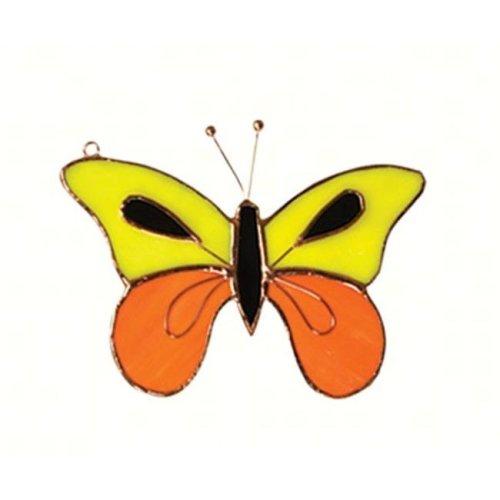 Gift Essentials GE231 Butterfly Sun, Yellow & Orange Sun Catcher