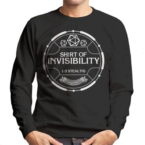 Shirt Of Invisibility Dungeons And Dragons Men's Sweatshirt