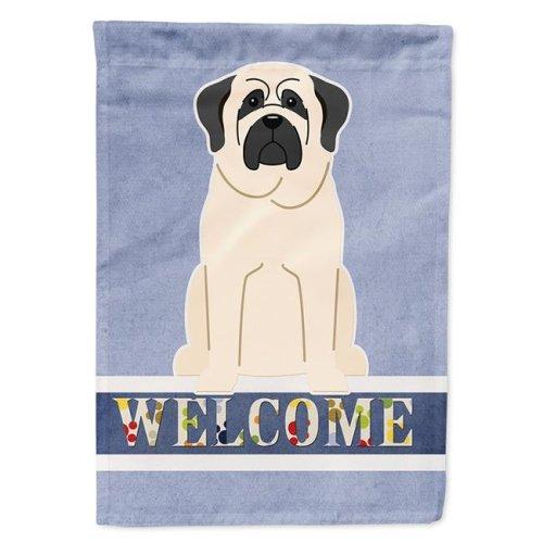 Carolines Treasures BB5598CHF Mastiff White Welcome Flag Canvas House Size