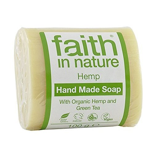 2 x 100g Bars of Hemp Faith in Nature Soap And a Bamboo Zoo Face Flannel, 30cm x 30cm