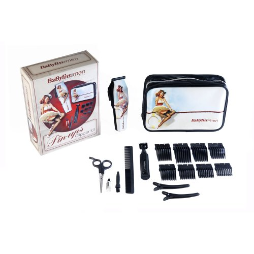 BaByliss 7446RGU Pin-Ups Hair Clipper Gift Set With Stainless Steel Blades