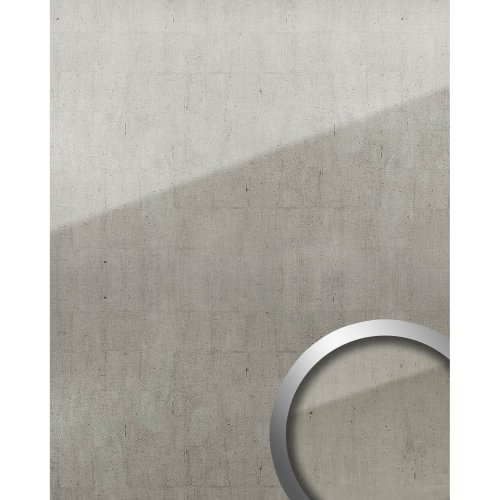WallFace 18001 Wall panel self-adhesive Glass Vintage Look platinum grey 2.6 sqm