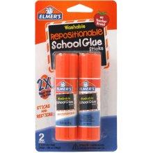 Elmer's Repositionable School Glue Sticks 2/Pkg-.53oz