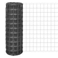 vidaXL Euro Fence 25x1.2 m with 100x100 mm Mesh Steel Grey