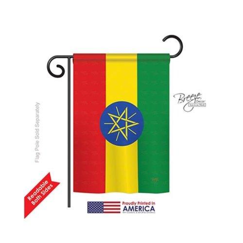 Breeze Decor 58282 Ethiopia 2-Sided Impression Garden Flag - 13 x 18.5 in.