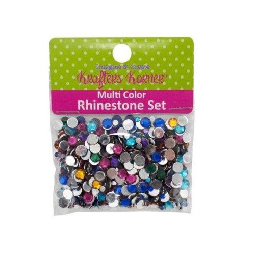 Kole Imports CC290-25 Multi-Color Rhinestone Set - Pack of 25